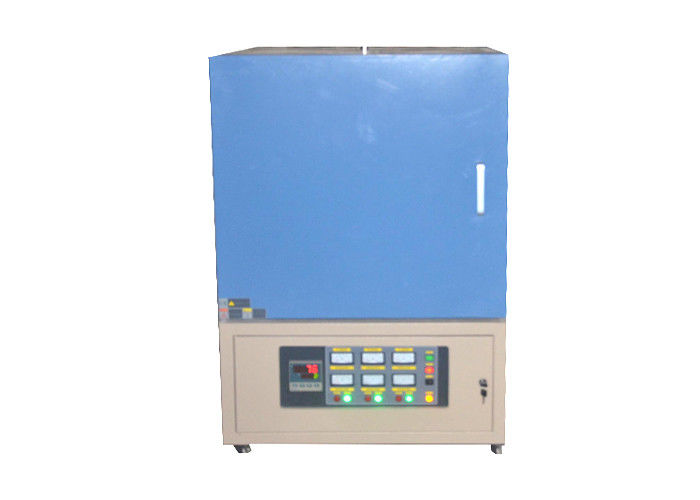 Blue 1800 ℃ Industrial Muffle Furnace 1 - 8L Volume 50 Segments Programmable